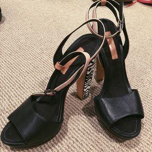 BCBG Maxzaria heels with geometric design heels